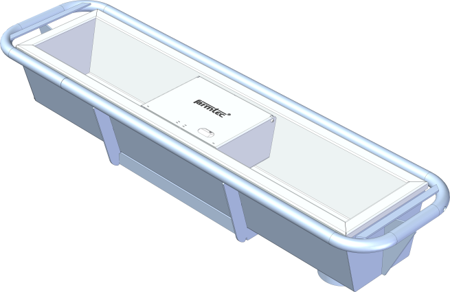 Stainless steel heated water trough